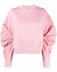 Alexander McQueen Толстовка С Вышитым Логотипом - Розовый