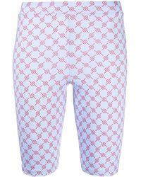 Daily Paper Logo Print Cycling Shorts - Blue