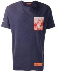 Heron Preston Print Detail T-shirt - Blue