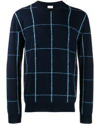 Paul Smith チェック セーター - ブルー