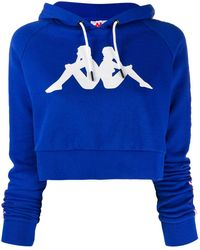 Kappa Authentic La Berry Cropped Hoodie - Blue