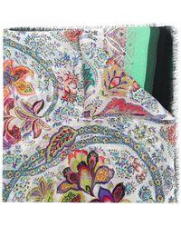 Etro Foulard à fleurs - Multicolore