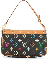 Louis Vuitton 2004 プレオウンド ポシェット アクセソワール ハンドバッグ - ブラック