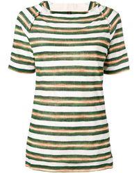 Louis Vuitton 2000s プレオウンド ボーダー Tシャツ - グリーン
