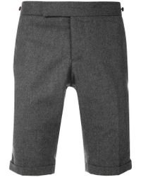 Thom Browne - Seamed Elastic Stripe Skinny Wool Shorts - Lyst