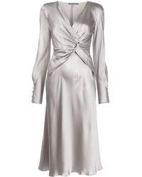 Alberta Ferretti - Twist-front Dress - Lyst