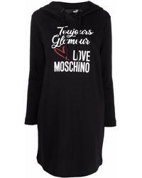 Love Moschino フーデッド ドレス - ブラック