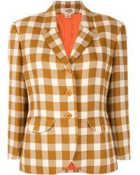 Hermès Giacca a quadri - Multicolore