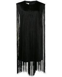 MM6 by Maison Martin Margiela - Fringed Short Dress - Lyst