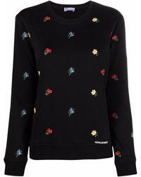 RED Valentino - Толстовка С Цветочной Вышивкой И Логотипом - Lyst