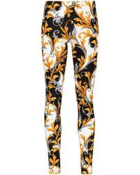 Versace Baroque-print leggings - Multicolour