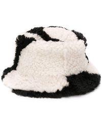 Marni Cow Print Bucket Hat - Black