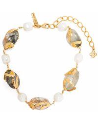 Oscar de la Renta Bracelet à perles - Métallisé