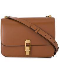 Saint Laurent Carre Satchel Crossbody Bag - Brown