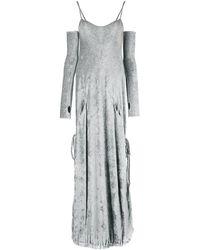 Andrea Ya'aqov サムホール イブニングドレス - グレー