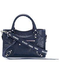 Balenciaga Bolso de hombro Classic City mini - Azul