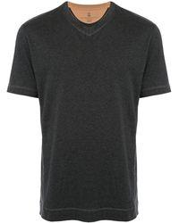 Brunello Cucinelli - コントラストステッチ Tシャツ - Lyst