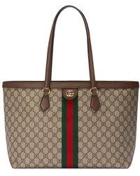 Gucci Mittelgroße 'Ophidia' Handtasche - Mehrfarbig
