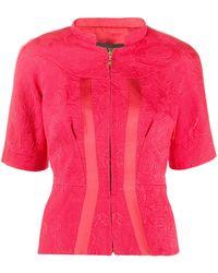Louis Vuitton Жаккардовая Блузка На Молнии Pre-owned - Красный