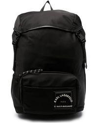 Karl Lagerfeld ロゴパッチ バックパック - ブラック