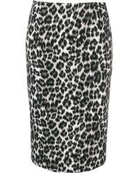 Pinko - Jami Leopard Print Skirt - Lyst
