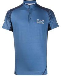 EA7 - バンドカラー ポロシャツ - Lyst