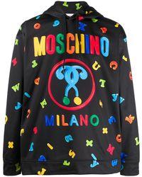 Moschino - Sweat imprimé à capuche - Lyst