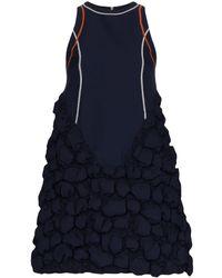 Angel Chen Bubble-detail Dress - Blue