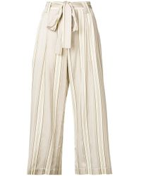Roberto Collina - High-waisted Tie Trousers - Lyst