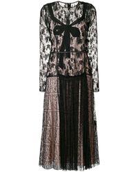 Bottega Veneta - Lace Midi Dress - Lyst