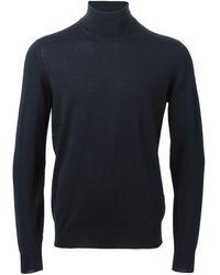 Drumohr タートルネック セーター - ブルー