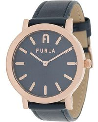 Furla Minimal Shape 38mm Watch - Blue