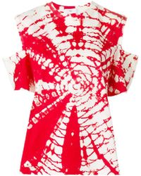 Toga Pulla - Cutout Tie-dye T-shirt - Lyst