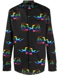 Philipp Plein Рубашка С Длинными Рукавами И Принтом - Черный