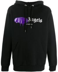 Palm Angels - Kapuzenpullover mit Spray-Logo - Lyst