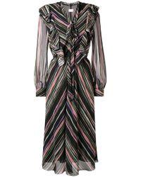Giamba - Striped Midi Dress - Lyst