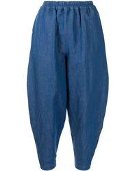 Toogood Pantalon court à design bouffant - Bleu
