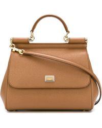 Dolce & Gabbana Medium 'sicily' Tote - Brown