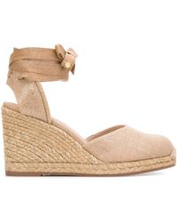 Stuart Weitzman Marguerita Wedges - Natural