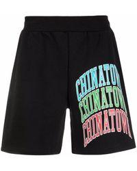 Chinatown Market Jersey-Shorts mit Logo-Print - Schwarz