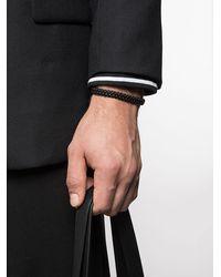 David Yurman Woven Box Chain ブレスレット - ブラック