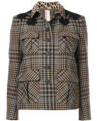 Antonio Marras   Contrast Collar Check Jacket   Lyst