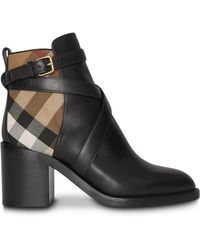 Burberry - Leather Ankle Boots - Lyst