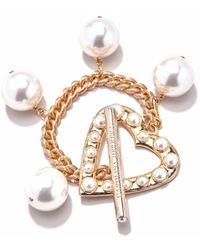 Carolina Herrera Heart Charm Bracelet - Metallic