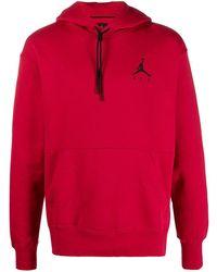 Nike Hoodie Met Geborduurd Logo - Rood