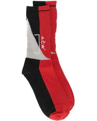 A_COLD_WALL* Overlock Recut Socks - Red