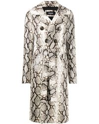 DSquared² Python Print Trench Coat - Multicolor