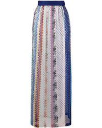 Missoni カラーブロック ニットスカート - ブルー