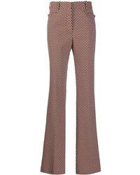 Victoria Beckham Geometric Pattern Flared Trousers
