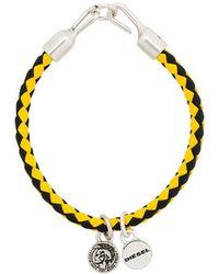DIESEL - Woven Charm Bracelet - Lyst